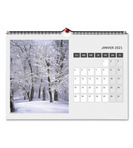 Calendrier A4 Paysage